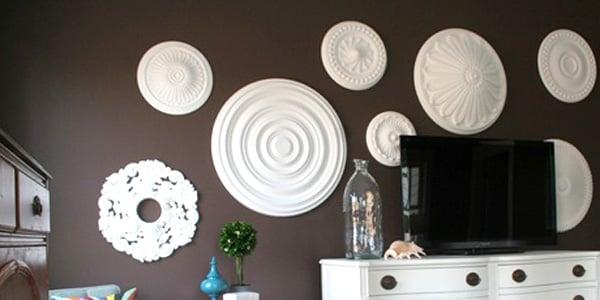 Ceiling Medallion Wall Art remodelaholic | ceiling medallion wall art for bedroom makeover