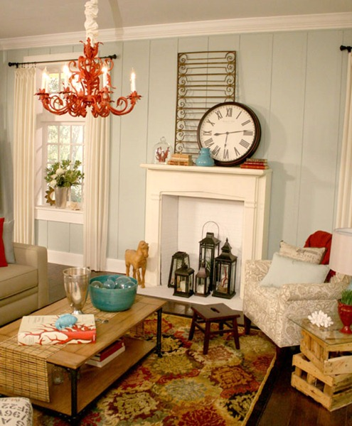 Remodelaholic coastal casual living room design tips - Beach themed room decor ...