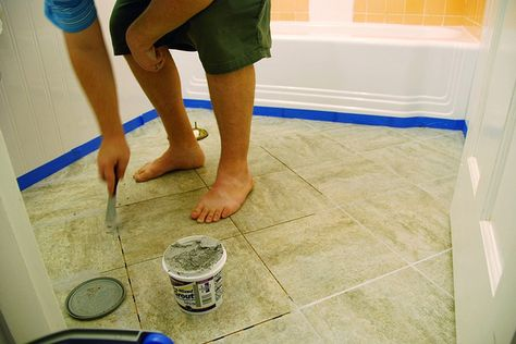 bathroom floor stick tiles remodelaholic bathroom redo grouted peel and stick 15898