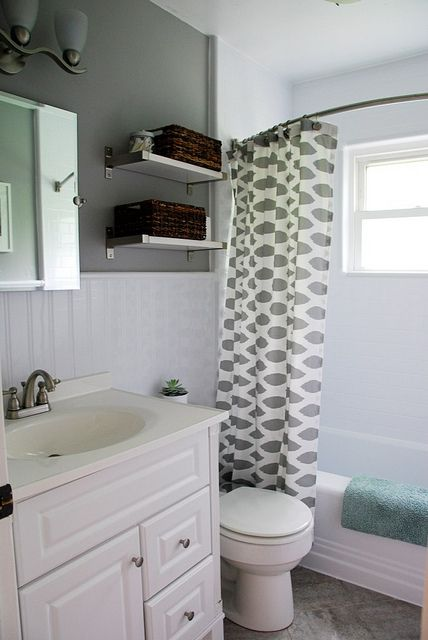 Amazing Updating an old bathroom with graoutable peel and stick tiles