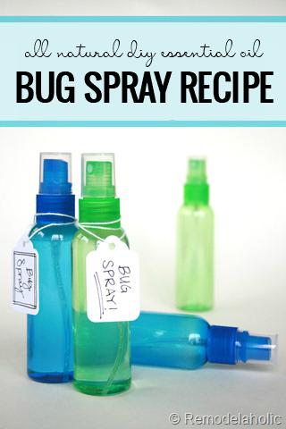 Homemade All Natural Bug Spray
