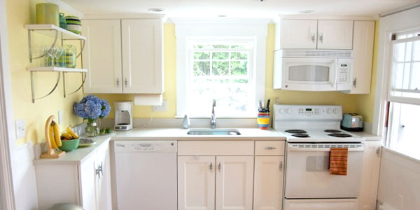 Remodelaholic beach cottage remodel before after for Beach house kitchen plans