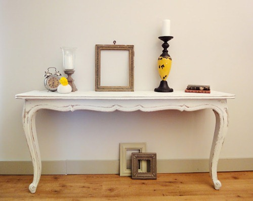 console table white