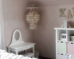 pink clay bedroom feature