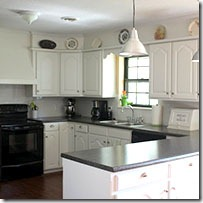 White Kitchen Oak remodelaholic | painting oak cabinets white and gray