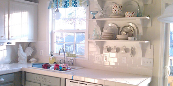 white tile kitchen countertops. Delighful White Intended White Tile Kitchen Countertops