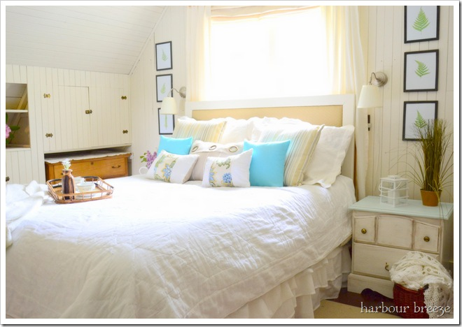 marvelous beach themed bedrooms | Remodelaholic | Beach Cottage Bedroom Makeover!