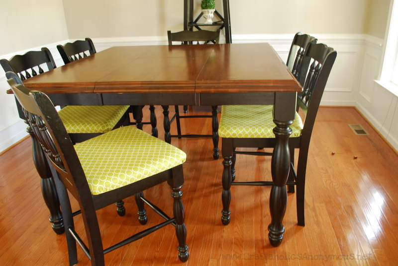 Superb Craftaholics Anonymous added bright upholstery to dining
