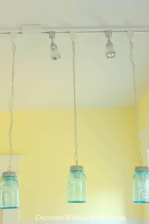 mason jar track lighting. DIY Vintage Canning Mason Jar Pendant Lights (5) Track Lighting S