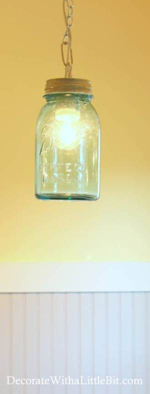 DIY Vintage Canning Mason Jar Pendant Lights (6)