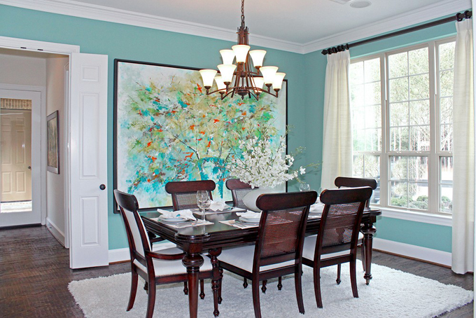 Remodelaholic home sweet home on a budget dining room for Teal dining room decorating ideas