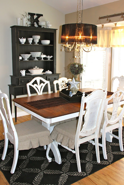 Home Sweet Home on a Budget Dining Furniture Updates  : White Place Flea Market Chairs from directory.yourhavenhome.com size 427 x 640 jpeg 118kB