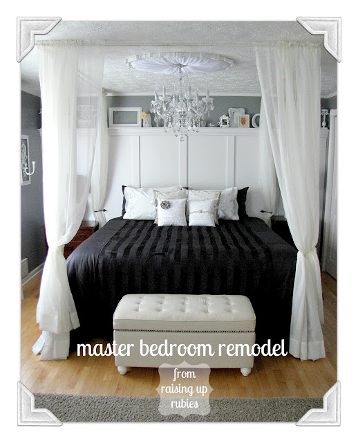 Remodelaholic Black And White Master Bedroom Reveal