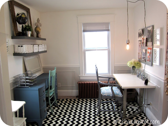 Remodelaholic Bright White Home Office
