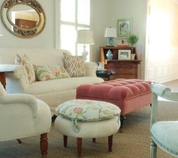 Bright Living Room Makeover