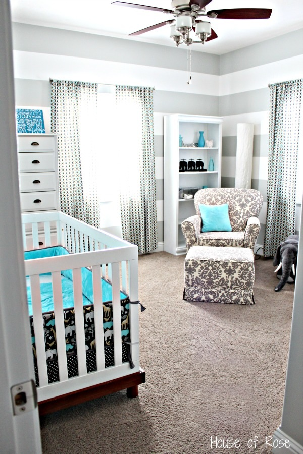 Remodelaholic Grey And White Striped Nursery And Ra 127