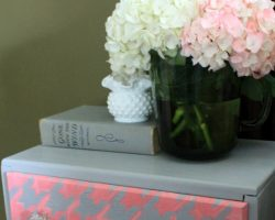 houndstooth painted dresser