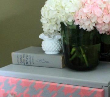 Houndstooth Pattern Painted Dresser