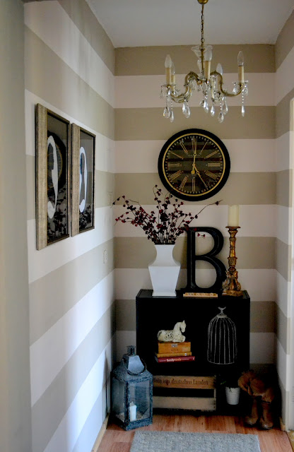 Wall Decor With Stripes : Remodelaholic striped wall reveal
