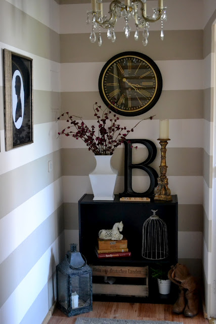 Wall Art For Main Bedroom : Remodelaholic striped wall reveal