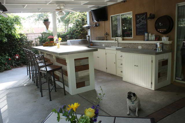 Backyard Kitchen And Bar : outdoorkitchenettepatioporchkitchenbargrill1