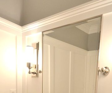 Powder Room Transformed with Molding On Walls