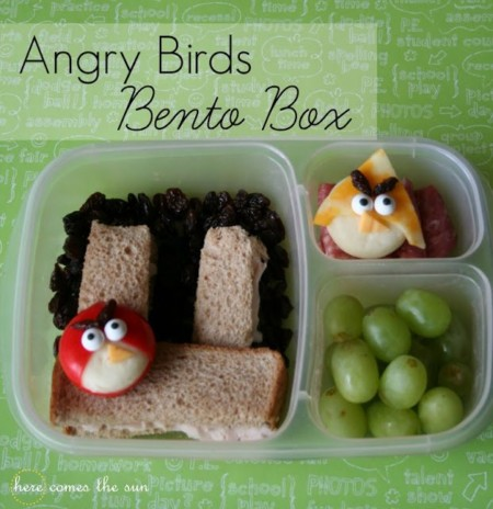 Angry bird bento box idea for school lunches