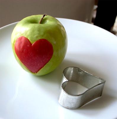 Apple cut out idea using a cookie cutter