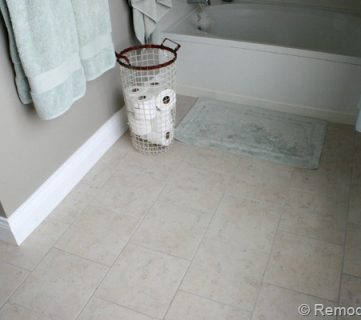 Master Bathroom Flooring Reveal & Giveaway