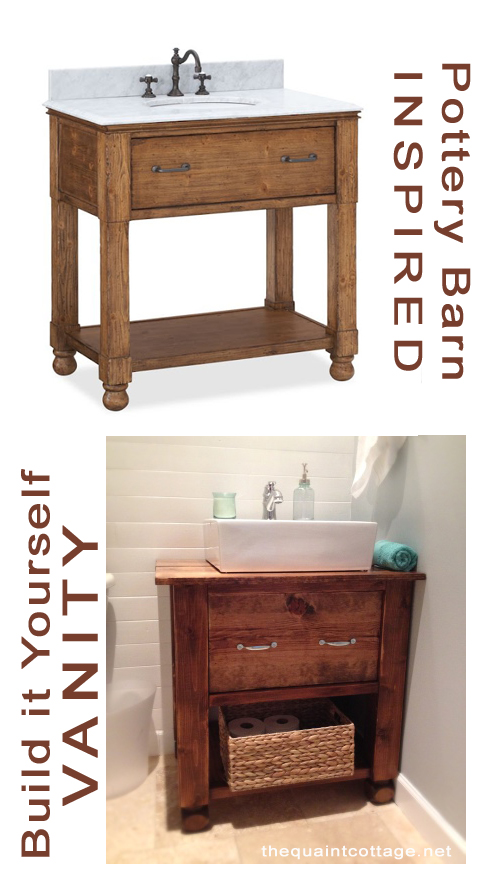 Bathroom Vanities Rustic remodelaholic | diy bathroom vanity how to