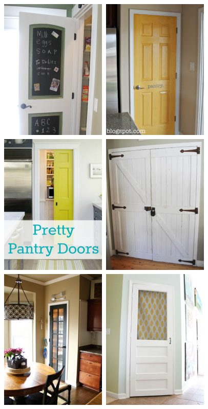 Pretty Pantry Door Ideas featured on remodelaholic & Pretty Pantry Door Pezcame.Com