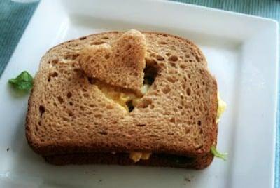 heart cut out sandwich idea