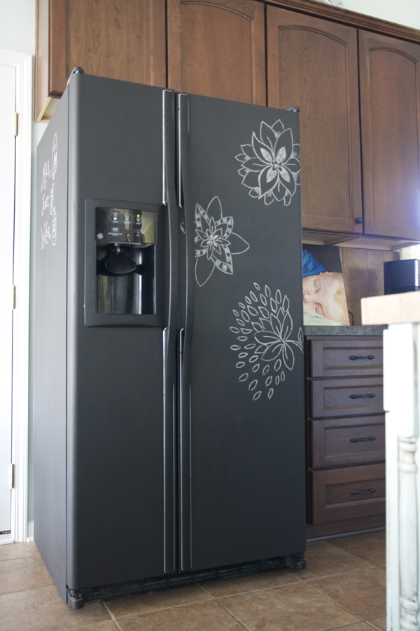 Remodelaholic home sweet home on a budget kitchen for Chalkboard appliance paint