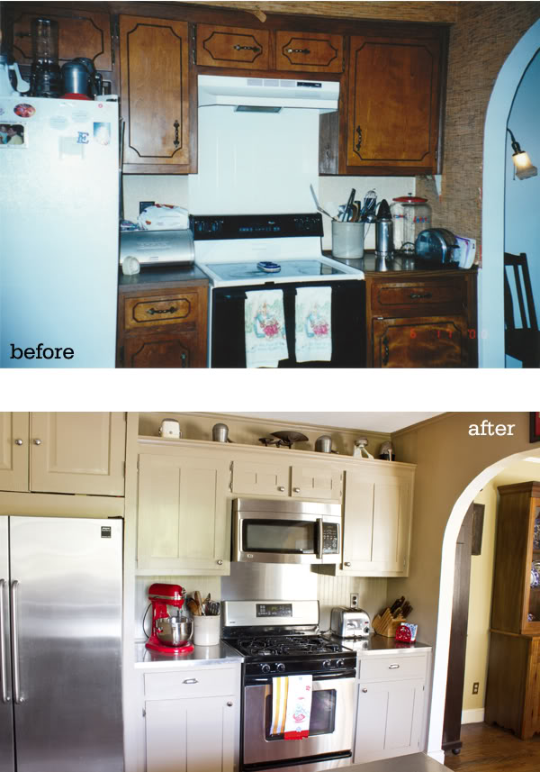 Home sweet home on a budget kitchen cabinet makeovers diy for Kitchen cupboard makeover before and after