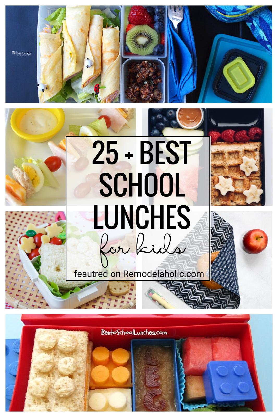 A legjobb ötletek az iskolai ebédekhez!  Találja meg ezt a 25 legjobb ebédötletet az ebéd csomagolásához a gyerekei számára.