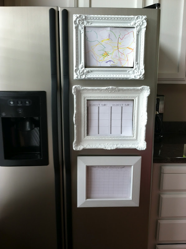 Home sweet home on a budget kitchen project linkup diy - Simple ways of keeping your home organized using magnetic picture frames ...