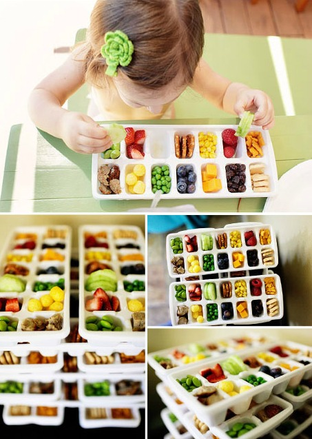 Toddler lunch ideas using ice cube trays