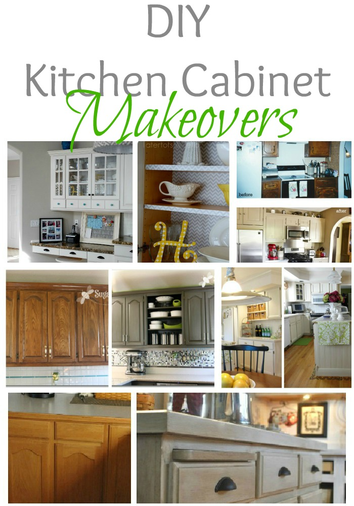 Remodelaholic Home Sweet Home On A Budget Kitchen Cabinet Makeovers - Diy kitchen cabinets makeover