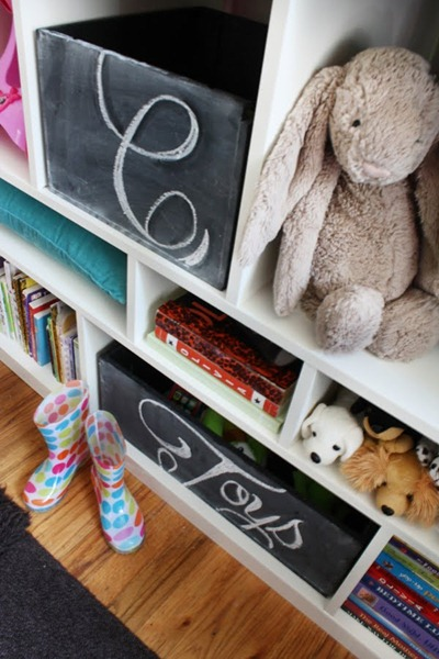 chalkboar toy box storage 3