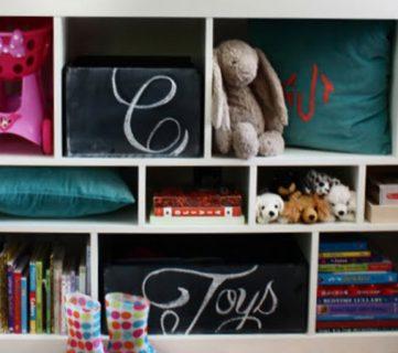 Chalkboard Toy Box Storage