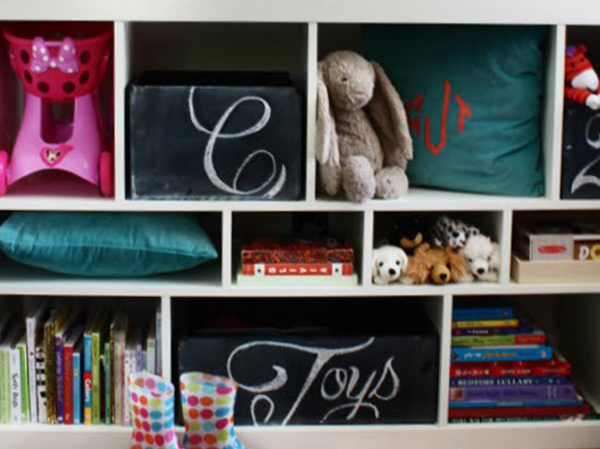 Chalkboard Toy Box Storage