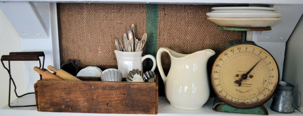 Vintage Door as Display Shelving