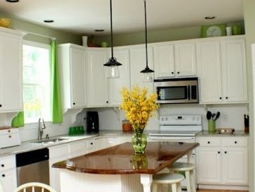 Green Accent Kitchen Makeover