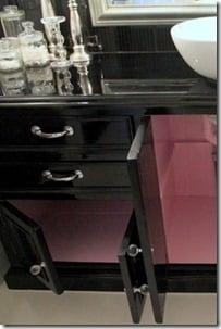Perfect  remodelaholic black gloss pink inside bathroom vanity