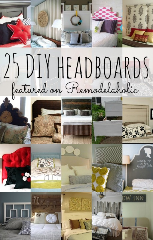 25 DIY Headboards on Remodelaholic.com
