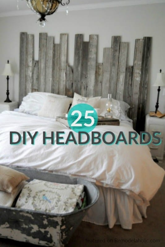 DIY Headboard Ideas Featured On @Remodelaholic