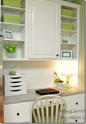 Green Accented Kitchen
