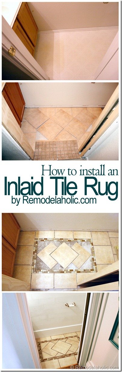 HOw to install an inlaid tile rug