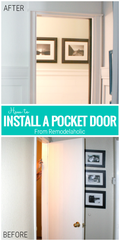 How To Install A Pocket Door, a Tutorial From Remodelaholic