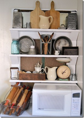 Vintage Door Into Shelf Display